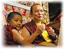 H.E. Tai Situ Rinpoche with H.E. Jamgon Kongtrul Rinpoche